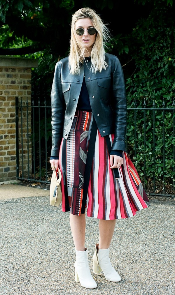 red-midi-skirt-stripe-black-jacket-bomber-sun-white-shoe-booties-howtowear-fashion-style-outfit-spring-summer-blonde-lunch.jpg