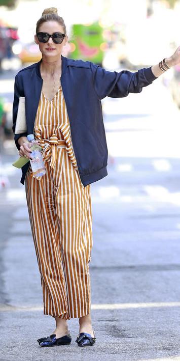 camel-jumpsuit-vertical-stripe-print-black-jacket-bomber-black-shoe-loafers-sun-bun-oliviapalermo-howtowear-fall-winter-hairr-lunch.jpg