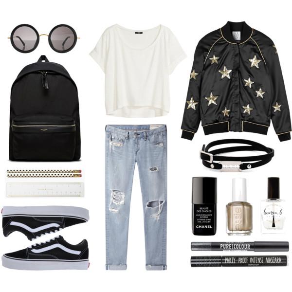 blue-light-boyfriend-jeans-white-tee-black-jacket-bomber-black-bag-pack-black-shoe-sneakers-sun-nail-coker-howtowear-fashion-style-outfit-fall-winter-weekend.jpg