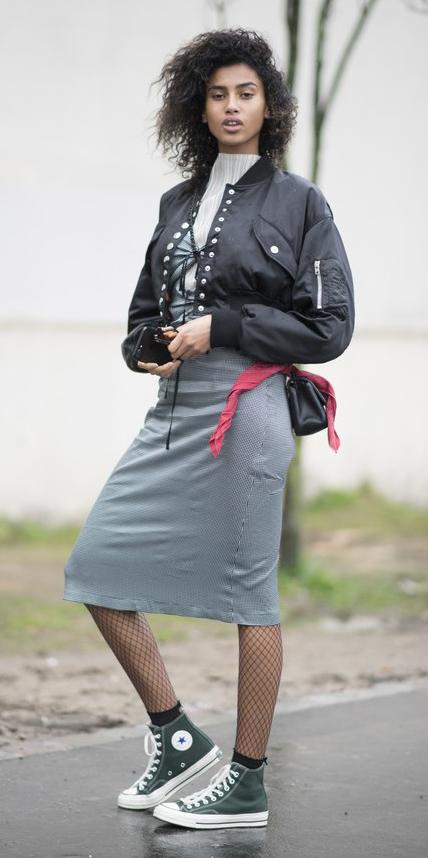 grayl-pencil-skirt-black-tights-green-shoe-sneakers-white-top-black-jacket-bomber-brun-black-bag-fall-winter-weekend.jpg