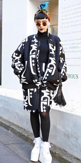 black-pencil-skirt-black-tee-turtleneck-print-set-black-jacket-bomber-bun-sun-black-bag-howtowear-style-fashion-fall-winter-white-shoe-sneakers-black-tights-japan-brun-dinner.jpg