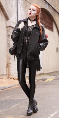 black-leggings-black-top-black-jacket-bomber-leather-wear-outfit-fashion-fall-winter-black-shoe-booties-gothic-choker-openknit-black-bag-braid-lace-seethrough-hairr-dinner.jpg