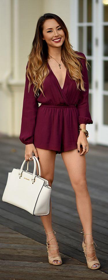 burgundy-jumper-romper-tan-shoe-sandalh-hairr-spring-summer-lunch.jpg
