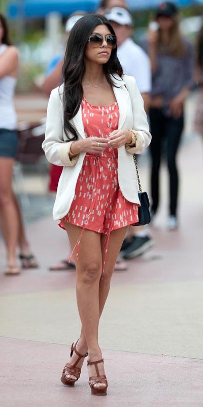 kourtneykardashian-orange-jumper-romper-white-jacket-blazer-brown-shoe-sandalw-sun-brun-black-bag-spring-summer-lunch.jpg