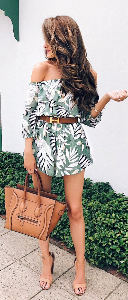green-olive-jumper-romper-print-belt-cognac-bag-tan-shoe-sandalh-hairr-spring-summer-lunch.jpg