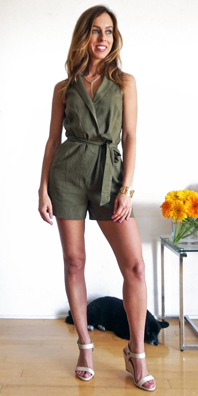 green-olive-jumper-romper-white-shoe-sandalw-hairr-spring-summer-lunch.jpg