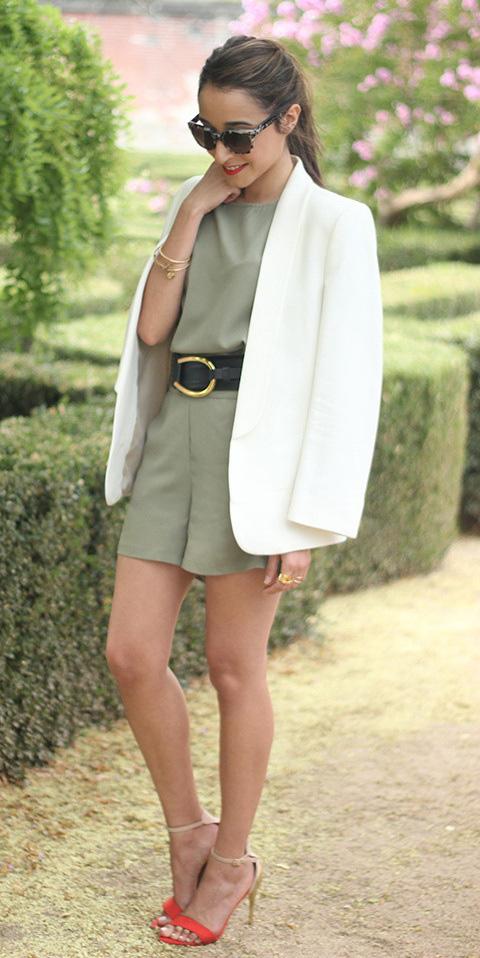 green-olive-jumper-romper-wide-belt-white-jacket-blazer-sun-pony-red-shoe-sandalh-howtowear-fashion-style-outfit-spring-summer-hairr-dinner.jpg