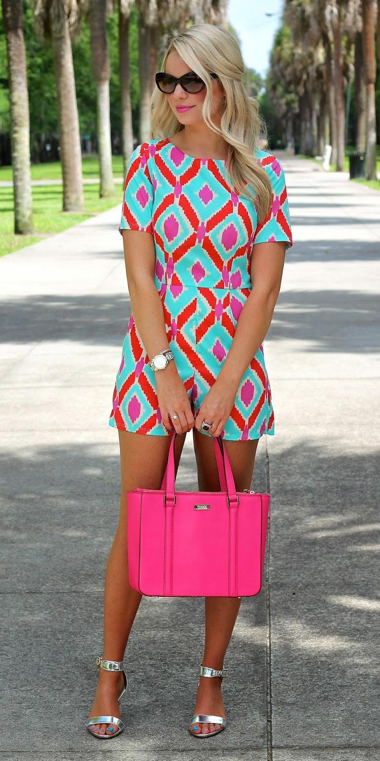 blue-light-jumper-romper-print-pink-bag-blonde-sun-gray-shoe-sandalh-spring-summer-lunch.jpg