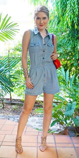 blue-light-jumper-romper-red-bag-tan-shoe-sandalh-blonde-earrings-spring-summer-lunch.jpg