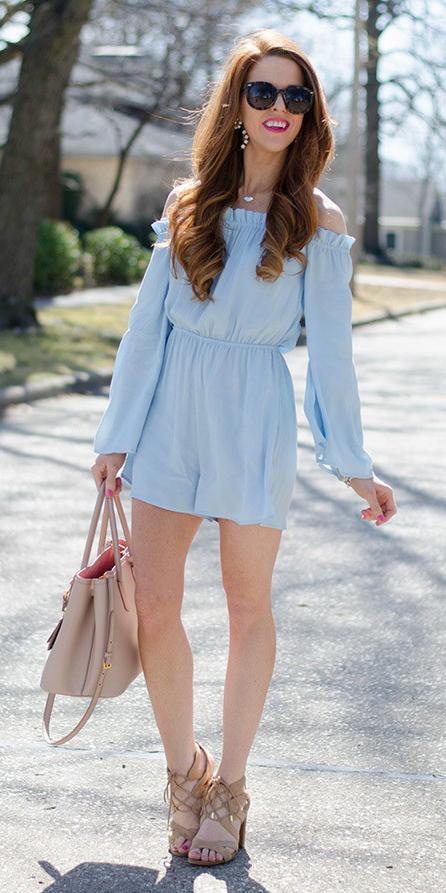 blue-light-jumper-romper-tan-bag-tan-shoe-sandalh-hairr-sun-earrings-spring-summer-lunch.jpg