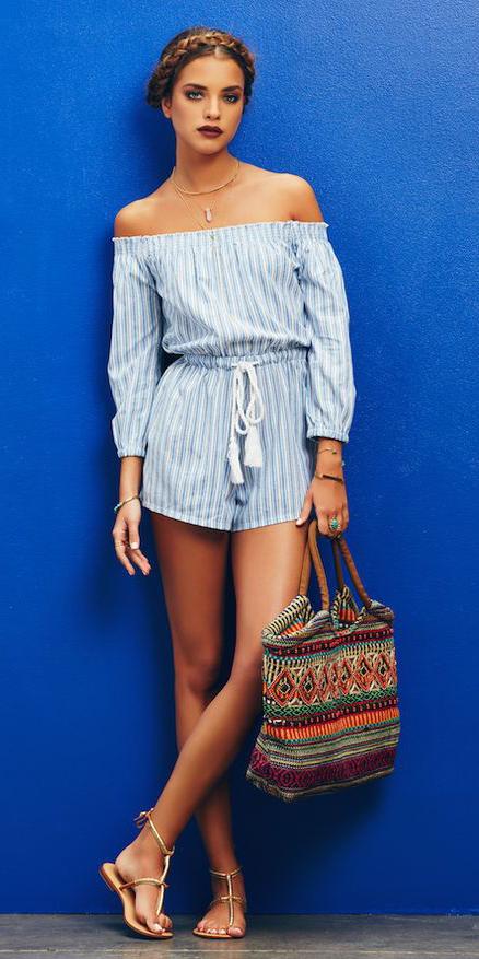 blue-light-jumper-romper-hairr-braid-orange-bag-tan-shoe-sandals-offshoulder-spring-summer-weekend.jpg