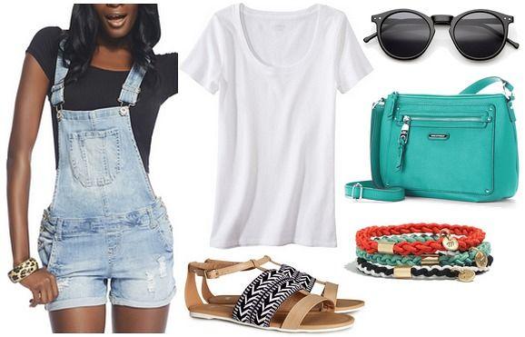 blue-light-jumper-romper-white-tee-tan-shoe-sandals-denim-green-bag-bracelet-sun-overalls-howtowear-fashion-spring-summer-style-outfit-weekend.jpg