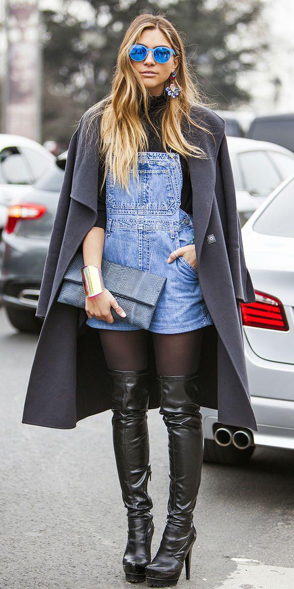 how-to-style-blue-med-jumper-romper-layer-overalls-sun-blonde-earrings-grayd-jacket-coat-black-shoe-boots-otk-fall-winter-dinner.jpg