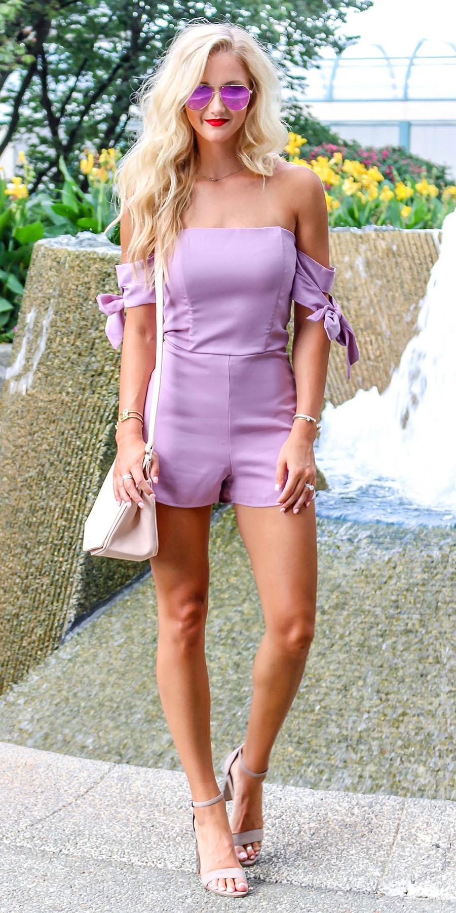 purple-light-jumper-romper-blonde-sun-white-bag-offshoulder-spring-summer-dinner.jpg