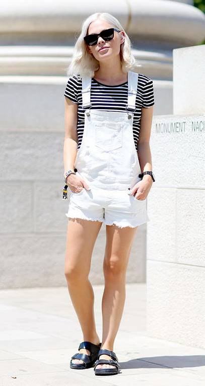 white-jumper-romper-black-tee-stripe-sun-black-shoe-sandals-denim-overalls-howtowear-fashion-style-spring-summer-outfit-blonde-weekend.jpg