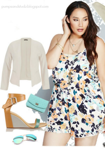 white-jumper-romper-playsuit-howtowear-fashion-style-spring-summer-white-jacket-blazer-cognac-shoe-sandalw-wedges-sun-blue-bag-clutch-print-work.jpg
