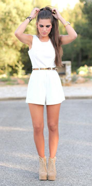 white-jumper-romper-skinny-belt-pony-tan-shoe-booties-hairr-spring-summer-lunch.jpg