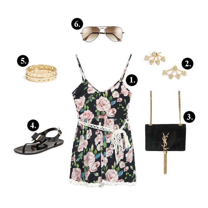 black-jumper-romper-floral-print-black-shoe-sandals-black-bag-sun-studs-spring-summer-weekend.jpg