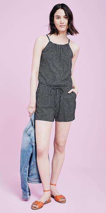 black-jumper-romper-cognac-shoe-sandals-brun-print-spring-summer-wear-fashion-style-denim-blue-light-jacket-weekend.jpg