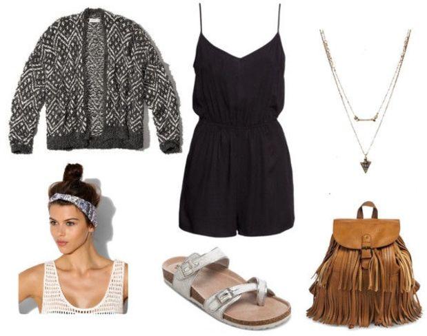 black-jumper-grayd-cardigan-gray-shoe-sandals-head-bun-cognac-bag-pack-necklace-howtowear-fashion-style-outfit-spring-summer-fringe-weekend.jpg