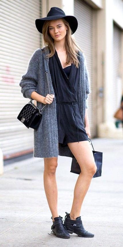 black-jumper-romper-grayl-cardiganl-hairr-sun-black-bag-black-shoe-booties-fall-winter-weekend.jpg