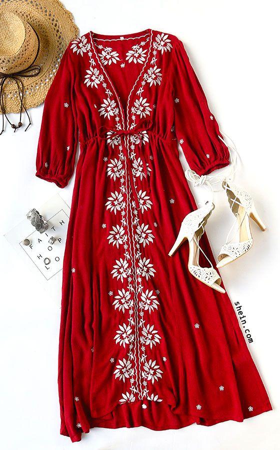 red-dress-peasant-midi-hat-straw-bracelet-white-shoe-sandalh-spring-summer-lunch.jpg