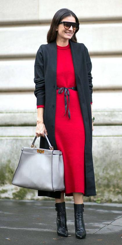 red-dress-sweater-midi-belt-black-cardiganl-black-shoe-booties-sun-fall-winter-holiday-christmas-brun-lunch.jpg