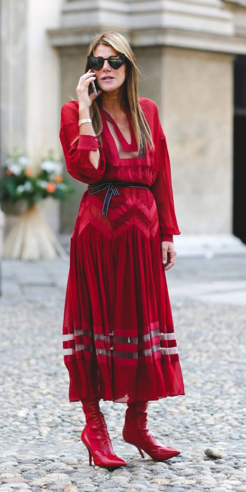 red-dress-peasant-blonde-midi-red-shoe-boots-howtowear-fashion-mono-fall-winter-dinner.jpg