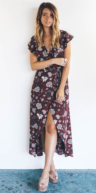 burgundy-dress-wrap-midi-floral-print-blonde-tan-shoe-sandalw-spring-summer-lunch.jpg