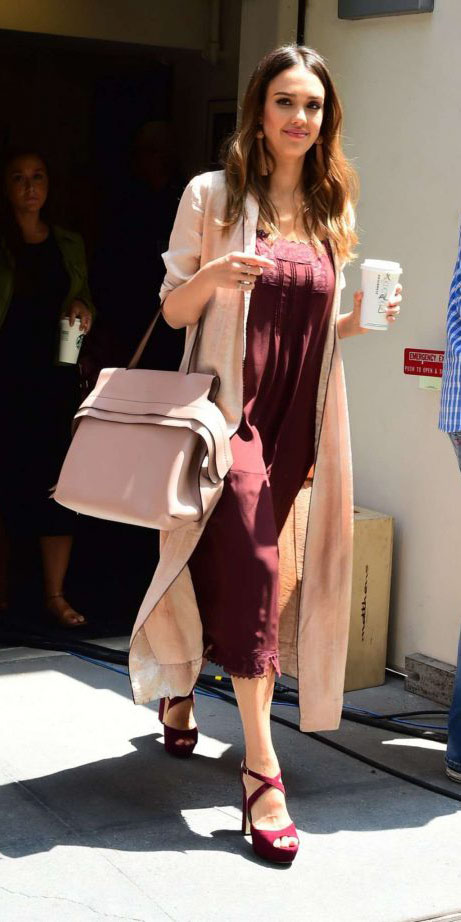 burgundy-dress-slip-midi-peach-bag-burgundy-shoe-sandalh-earrings-jessicaalba-tan-cardiganl-spring-summer-hairr-lunch.jpg