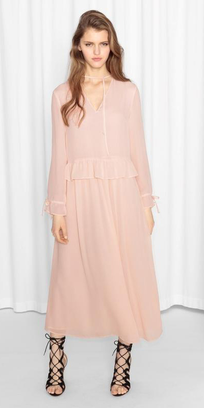 pink-light-dress-peasant-midi-hairr-black-shoe-sandalh-spring-summer-dinner.jpg