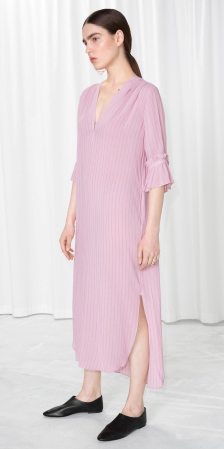 pink-light-dress-shirt-midi-black-shoe-booties-brun-pony-spring-summer-weekend.jpg