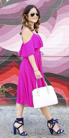 pink-magenta-dress-midi-hairr-white-bag-sun-blue-shoe-sandalh-spring-summer-dinner.jpg