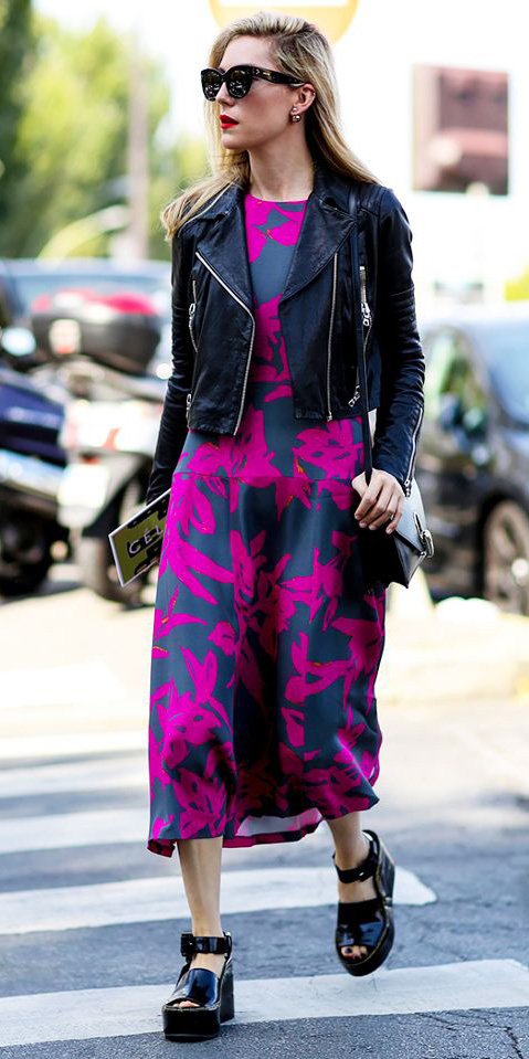 pink-magenta-dress-aline-midi-print-black-jacket-moto-sun-black-bag-black-shoe-sandalw-fall-winter-blonde-lunch.jpg