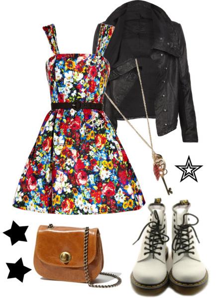 red-dress-tank-belt-cognac-bag-drmartens-white-shoe-booties-floral-print-necklace-pend-black-jacket-moto-spring-summer-lunch.jpg