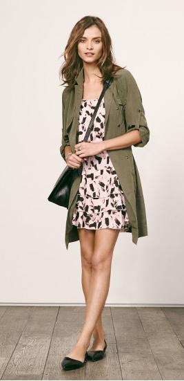 r-pink-light-dress-zprint-grap-green-olive-dress-shirt-tank-wear-style-fashion-fall-winter-bananarepublic-outfit-black-shoe-flats-black-bag-hairr-weekend.jpg