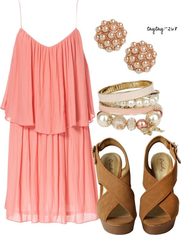o-peach-dress-tank-cognac-shoe-sandalw-bracelet-studs-howtowear-fashion-style-outfit-spring-summer-lunch.jpg