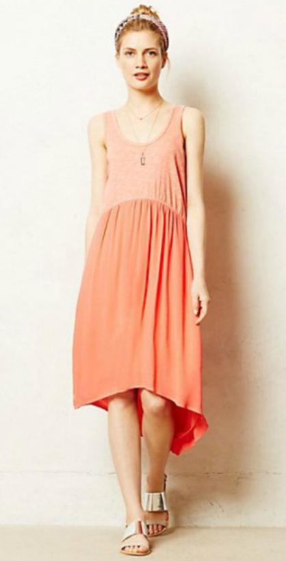 peach-dress-gray-shoe-sandals-head-bun-necklace-aline-tank-style-fashion-spring-summer-blonde-weekend.jpg