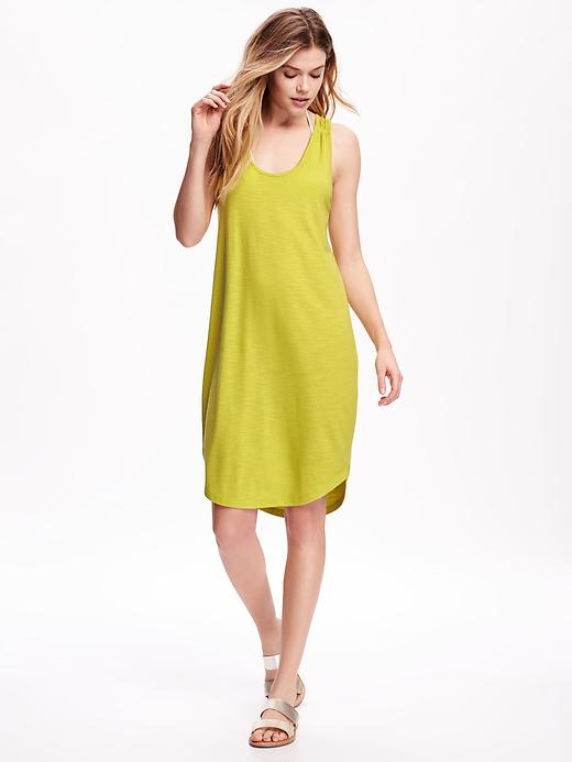 yellow-dress-tan-shoe-sandals-tank-wear-style-fashion-chartreuse-spring-summer-blonde-weekend.jpg