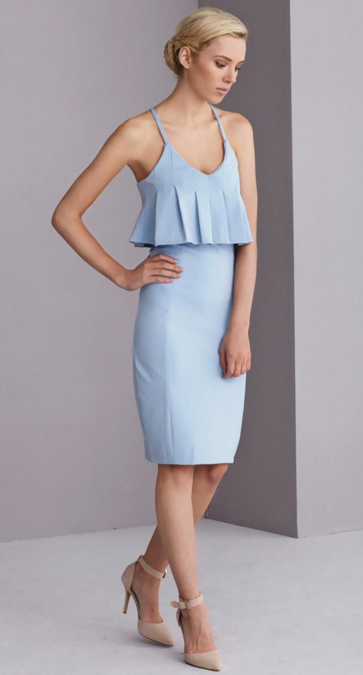 Light blue sun dresses | HOWTOWEAR Fashion
