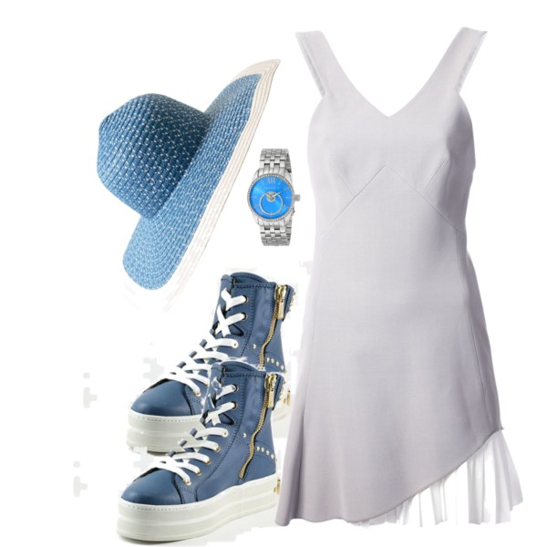 white-dress-blue-shoe-sneakers-hat-watch-tank-howtowear-fashion-style-outfit-spring-summer-lunch.jpg