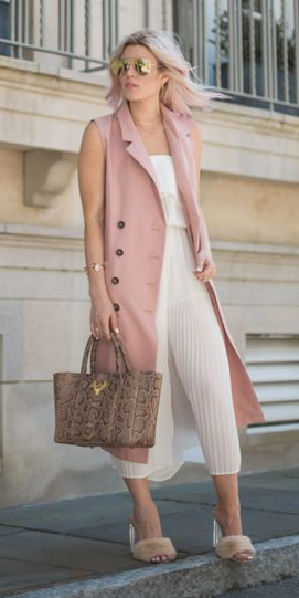 white-dress-midi-sun-tan-shoe-sandalh-blonde-lob-tank-brown-bag-tote-pink-light-vest-tailor-spring-summer-lunch.jpg