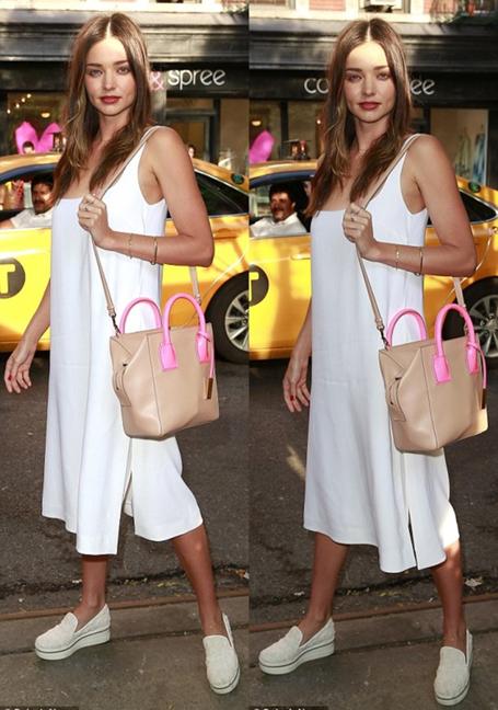 white-dress-white-shoe-flats-tan-bag-tank-wear-style-fashion-spring-summer-mirandakerr-hairr-classic-weekend.jpg