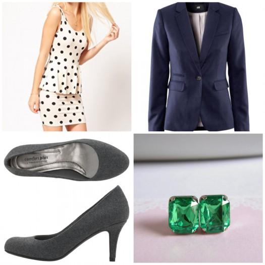 white-dress-zprint-dot-blue-navy-jacket-blazer-studs-gray-shoe-pumps-mini-tank-fashion-style-outfit-spring-summer-work.jpg