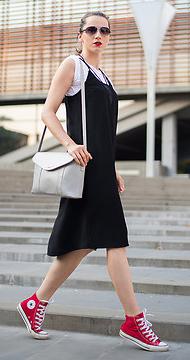 black-dress-tank-slip-white-tee-red-shoe-sneakers-white-bag-hairr-sun-pony-spring-summer-weekend.jpg