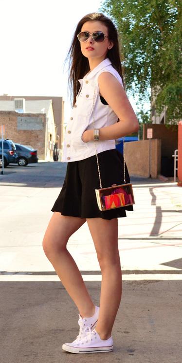 black-dress-tank-white-vest-jean-red-bag-hairr-sun-white-shoe-sneakers-spring-summer-weekend.jpg