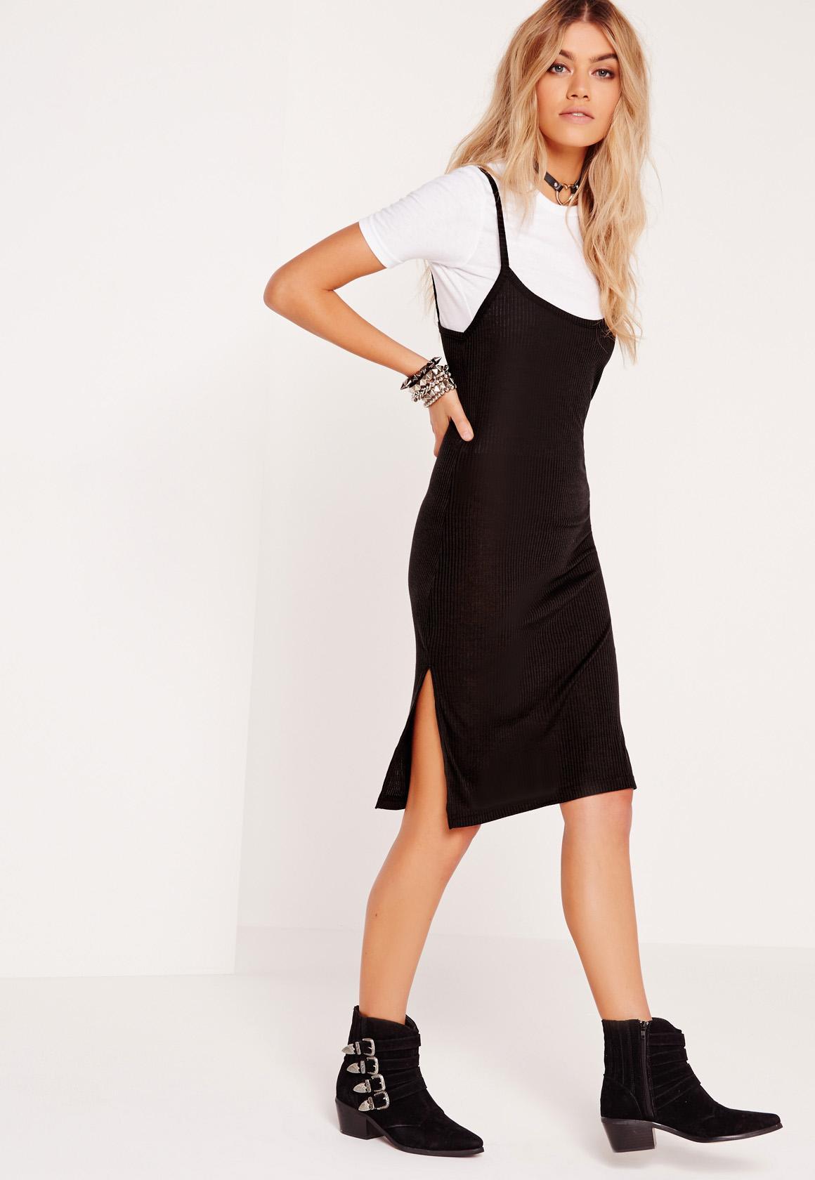 black-dress-tank-white-tee-layer-black-shoe-booties-blonde-fall-winter-weekend.jpg
