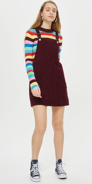 burgundy-dress-jumper-blue-shoe-sneakers-converse-hoops-hairr-blue-med-sweater-stripe-print-fall-winter-weekend.jpg