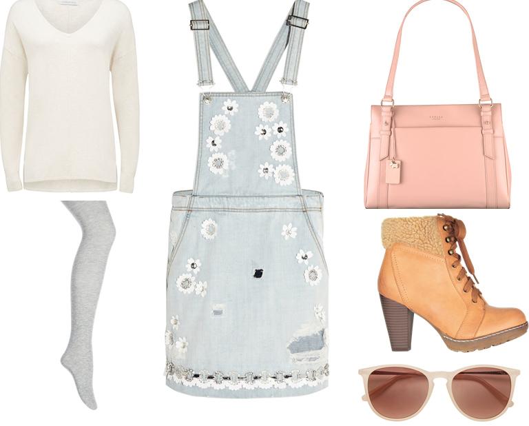 blue-light-dress-jumper-denim-white-sweater-gray-tights-sun-pink-bag-tan-shoe-booties-fall-winter-weekend.jpg