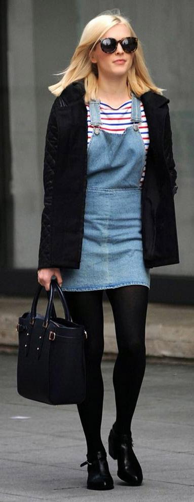 blue-light-dress-jumper-blue-navy-tee-stripe-black-jacket-coat-blonde-sun-fall-winter-wear-fashion-style-fearnecotton-black-tights-black-shoe-booties-black-bag-overalls-lunch.jpg